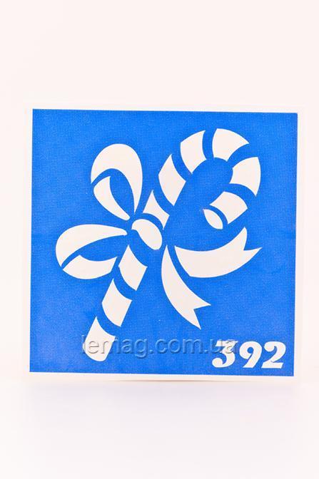 Boni Kasel Трафарет для био тату 6x6 см - 392new, 1 шт