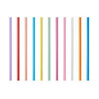 Трубочки Фреш 25 см 135 шт цветная толстая,PapStar