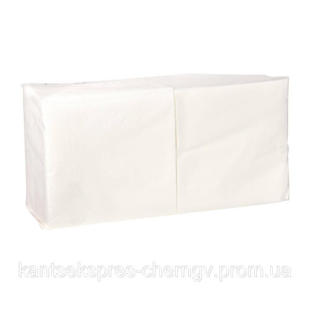 Салфетка белая 33*33 2-х сл. 200 шт