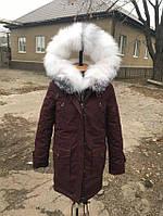 Зимняя парка с мехом блюфрост  в наличии 44 46 размеры