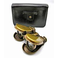 Бинокль бронзовый в кожаном чехле (14х9х3 см) Код:18135