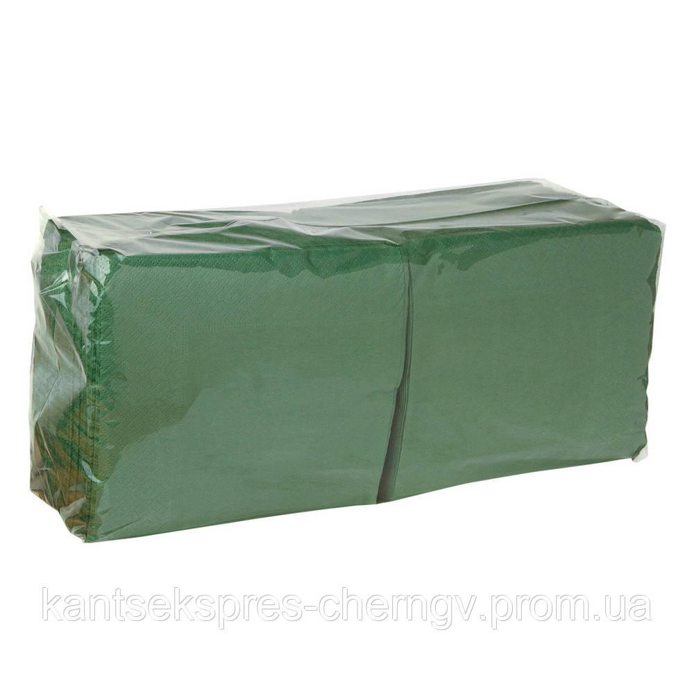 Салфетка 33*33 2-х сл. 200 шт зеленая