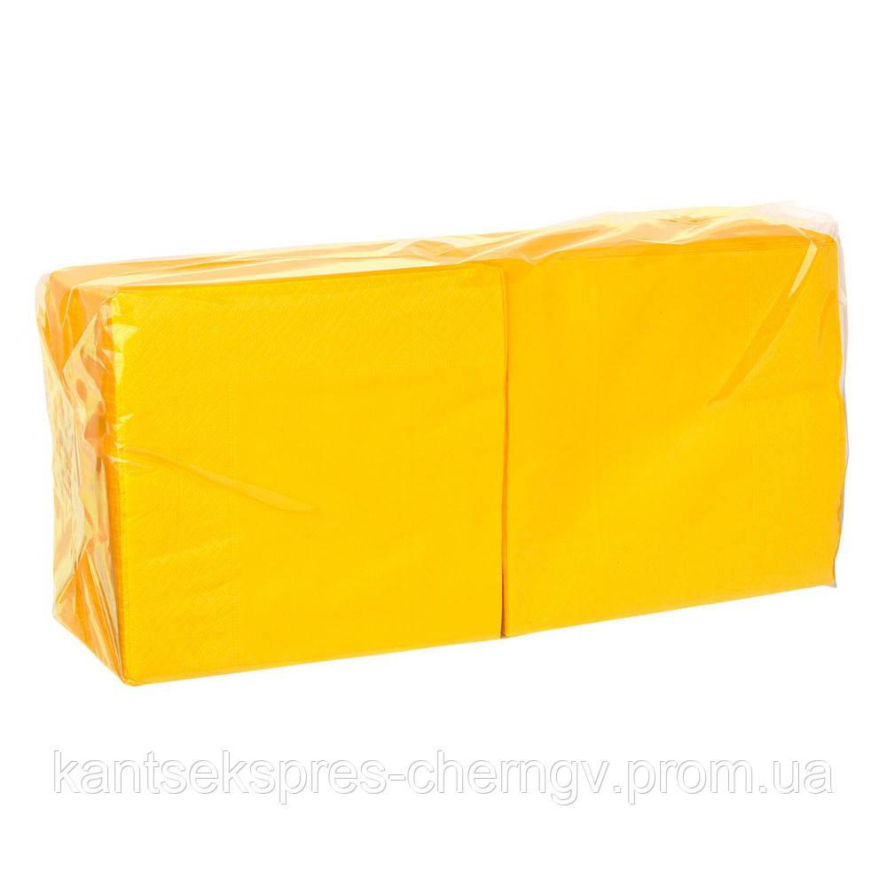 Салфетка 33*33 2-х слой. 200 шт грейпфрут