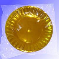 Тарелка стеклопластик 205 мм желтый 10 шт