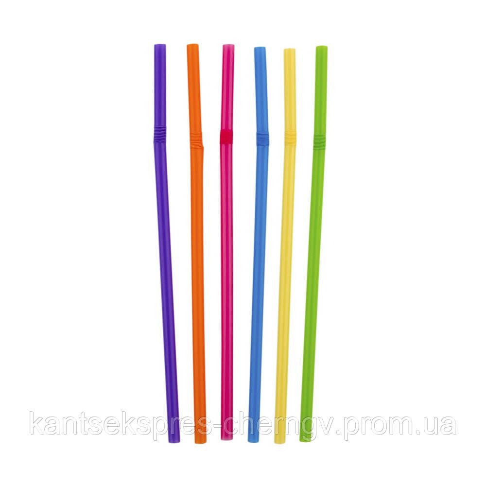 Трубочки д/напитков гофр. d = 4.8мм L = 210мм, 1000 шт цветная Инпак