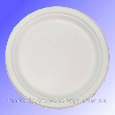 Тарелка бумажная 22 см 125 шт круглая