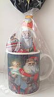 Подарок новогодний (шоколадные игрушки на елку+чайная чашка) Польша