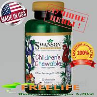 Swanson Premium Children's Chewable Multivitamin, Детские мультивитамины, витамины для детей из США