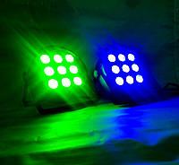 Прожекторы на мультицветных диодах 4в1 Led par 9 x 12 W. RGBW dmx.