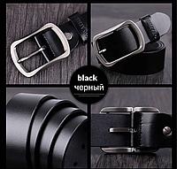 Черный ремень мужской 510