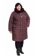 Зимня женская куртка пальто больших размеров Б-305, фото 1