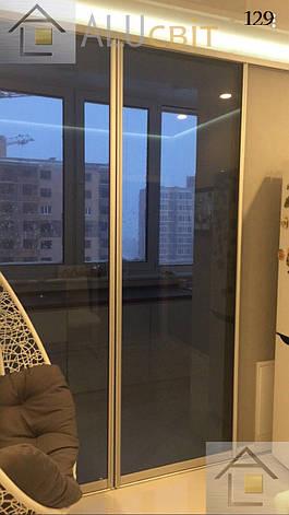 Двери* (перегородки) купе - стекло графит на балконы, лоджии, веранды, фото 2