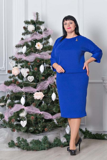 """Комплект """"Франсуа"""" юбка и кофта большой размер"""