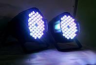 Световой прожектор Led par 54x3 RGBW с мультицветными диодами 3в1