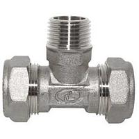 Тройник никелированный DISPIPE (BT20N) 20х3/4х20 (M)