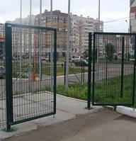 Распашные ворота и калитки из сетки