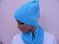 Женская шапка с жемчугом + хамут