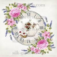 Принт для вышивки лентами часы-1084