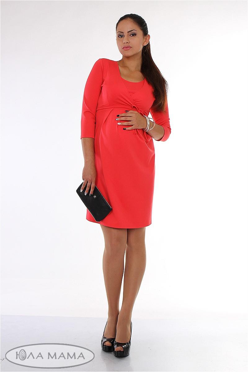 Платье для беременных и кормящих Winona ЮЛА МАМА (коралл, размер M)