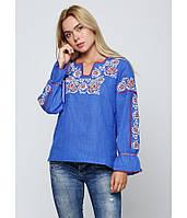 Чудова Жіноча вишита сорочка з натуральної тканини 42-58 рр