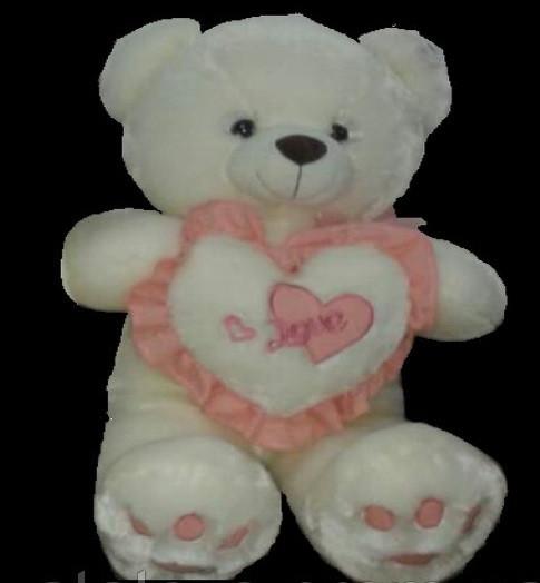 Плюшевий Ведмедик 55 см з серцем м'яка іграшка подарунок на день народження 8 березня