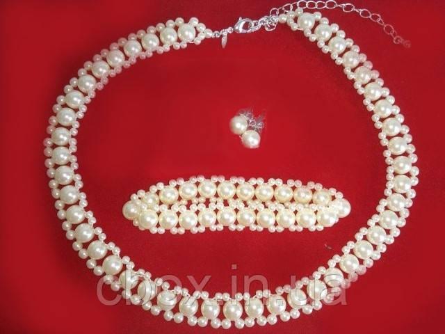 """Набор бижутерии колье, браслет и серьги """"Нежность жемчуга"""", Avon, Necklace Bracelet Earrings set, Эйвон"""