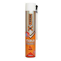 Пена монтажная полиуретановая X-Treme Professional 750 мл 30 л ручная
