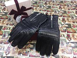 Мега стильные мужские перчатки из натуральной кожи 1641