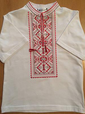 Вишиванка для хлопчика Карпатська червона на білому