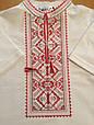 Вишиванка для хлопчика Карпатська червона на білому, фото 2