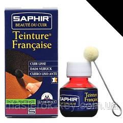 Краситель для гладкой кожи Saphir Teinture Francaise 50 мл цвет черный (01)