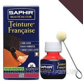 Барвник для гладкої шкіри Saphir Teinture Francaise 50 мл колір коричневий (04)