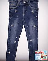 Нарядные джинсы на девочку, BREEZE, рост 116-152 cм.