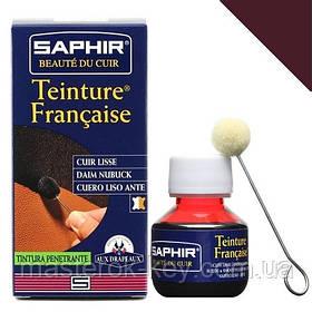 Барвник для гладкої шкіри Saphir Teinture Francaise 50 мл колір бордо (08)