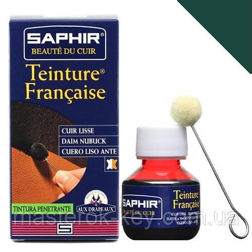 Краситель для гладкой кожи Saphir Teinture Francaise 50 мл цвет темно-зеленый (20)