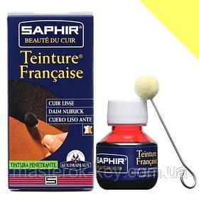 Барвник для гладкої шкіри Saphir Teinture Francaise 50 мл колір яскраво-жовтий (95)