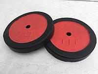 Блины для штанги 10 кг (обрезиненные)