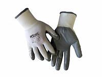 Перчатки трикотажные ПЭ,белые покрытие нитрил WERK WE2109