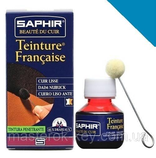 Краситель для гладкой кожи Saphir Teinture Francaise 50 мл цвет синий (23)