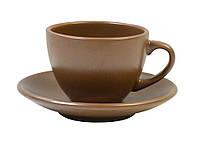 Чашка кофейная 207мл з блюдцем диам. 14см Табако Keramia 24-237-049