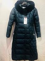 Женское пальто-пуховик  Snowimage (SID-P509/4281 цвет изумруд)