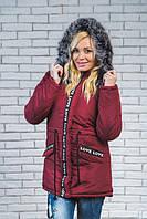 """Зимняя женская куртка """"Марине"""" 42-54  бордо, фото 1"""