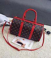 Модная женская сумка-бочонок в стиле Лв