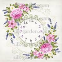 Принт для вышивки лентами часы-1083
