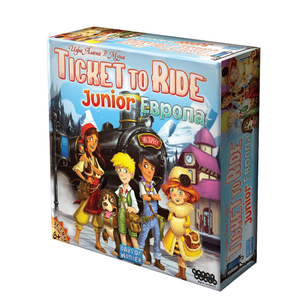 Настольная игра Билет на поезд Junior: Европа (Ticket to Ride Junior: Europe) рус.