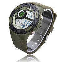Часы водонепроницаемые спортивные Skmei Army Green 1027AG