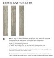 Paradyz Balance Grys 16x98.5