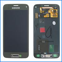 Дисплей (экран) для Samsung G800H Galaxy S5 mini Duos, G800F + тачскрин, золотистый, Copper Gold, оригинал