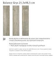 Paradyz Balance Grys 21.5x98.5