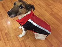 Жилет-попона мех 30 см разм №1 красный для собак